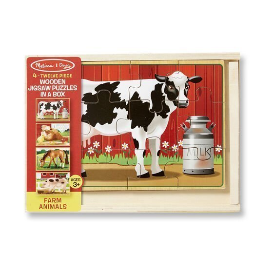 melissa and doug farm animals puzzles in a box 3794 01