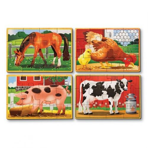 melissa and doug farm animals puzzles in a box 3794 02
