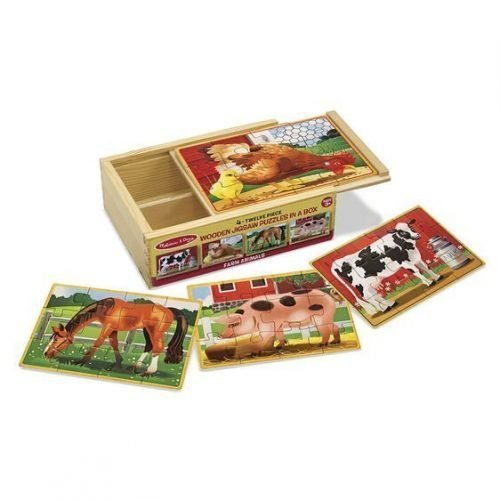 melissa and doug farm animals puzzles in a box 3794 03