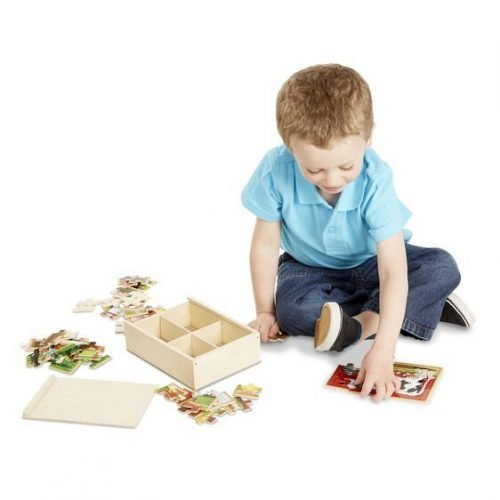 melissa and doug farm animals puzzles in a box 3794 04