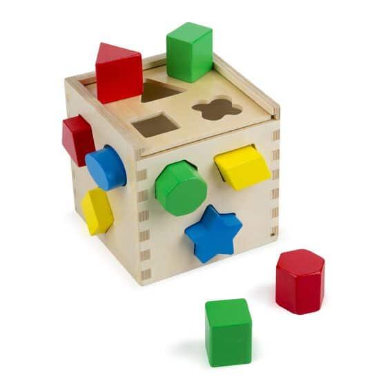 melissa and doug shape sorting cube 575 05
